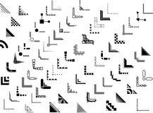 Diseños de la esquina y de la frontera del vector 70+ Fotografía de archivo