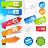 Diseños de la etiqueta engomada del Web page Fotos de archivo