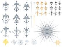 Diseños de la flor de lis Fotos de archivo