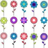 Diseños de la flor del vector Foto de archivo libre de regalías