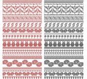 Diseños de la frontera de la vendimia Imagenes de archivo