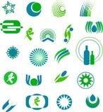 Diseños de la insignia Imagen de archivo