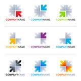 Diseños de la insignia de las flechas Imagenes de archivo