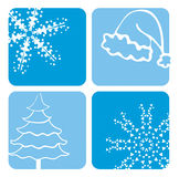 Diseños de la Navidad Imagenes de archivo