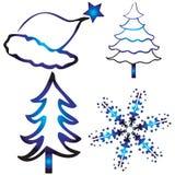 Diseños de la Navidad Foto de archivo libre de regalías