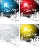 Diseños de la Navidad en 4 colores Imagenes de archivo