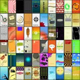 Diseños de la tarjeta de visita Imágenes de archivo libres de regalías