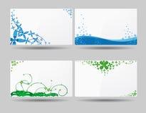 Diseños de la tarjeta de visita Foto de archivo