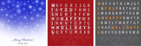 Diseños de las tarjetas de Navidad Fotos de archivo