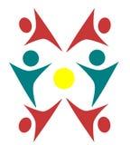 Diseños de los logotipos de la gente libre illustration
