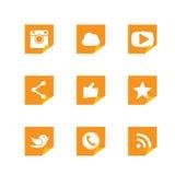 Diseños de papel dados vuelta plano del botón de cámara, como, pájaro del mensajero Fotografía de archivo libre de regalías