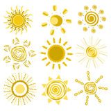 Diseños de Sun Fotos de archivo