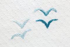 Diseños del bordado del bebé Foto de archivo libre de regalías
