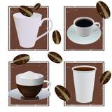 Diseños del café Fotos de archivo libres de regalías