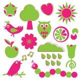 Diseños del color de rosa y del verde