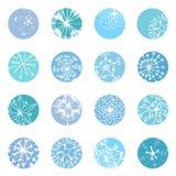 Diseños del copo de nieve Foto de archivo