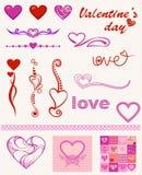 Diseños del corazón Foto de archivo libre de regalías