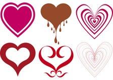Diseños del corazón Imagen de archivo libre de regalías