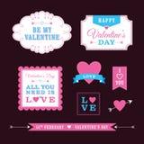 Diseños del día de tarjeta del día de San Valentín Foto de archivo libre de regalías