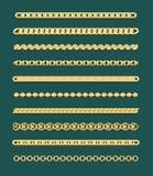 Diseños del encadenamiento del oro Foto de archivo