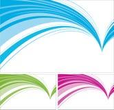 Diseños del extracto aislados en el fondo blanco. Imágenes de archivo libres de regalías