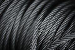 Diseños del extracto formados por Steel Cables Imagenes de archivo
