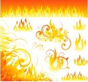 Diseños del fuego del vector Imagen de archivo libre de regalías