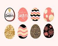 Diseños del huevo de Pascua Fotos de archivo libres de regalías