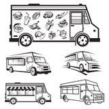 Diseños del icono del camión de la comida Imagen de archivo libre de regalías