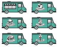 Diseños del icono del camión de la comida Foto de archivo