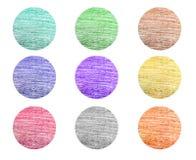 Diseños del lápiz del color fijados Imágenes de archivo libres de regalías