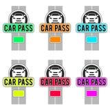 Diseños del paso del coche para las tarjetas de la identificación stock de ilustración