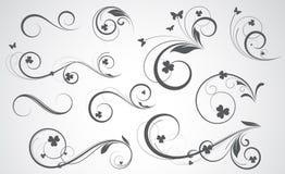 Diseños del vector de Swirly Fotos de archivo libres de regalías