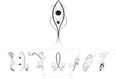 Diseños florales ilustración del vector