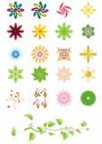 Diseños florales Foto de archivo libre de regalías