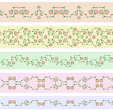 Diseños florales de la frontera stock de ilustración