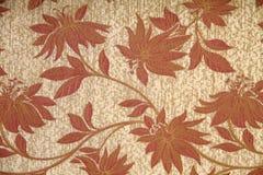 Diseños florales en telas Imagen de archivo