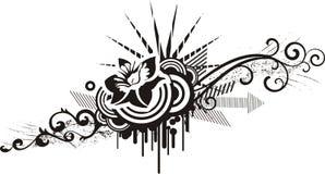 Diseños florales negros y blancos Imágenes de archivo libres de regalías