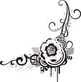 Diseños florales negros y blancos imagen de archivo libre de regalías
