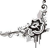 Diseños florales negros y blancos Foto de archivo