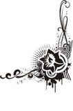 Diseños florales negros y blancos libre illustration