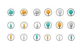 Diseños hermosos del vector del árbol Fotografía de archivo