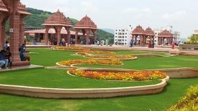 Diseños hindúes del arco del templo de dios Fotos de archivo libres de regalías