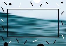 Diseños mínimos de la cubierta del vector Plantillas futuras del cartel Abstraiga los fondos Foto de archivo