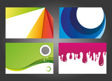 Diseños modernos y coloridos de la tarjeta de visita Imagenes de archivo
