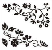 Diseños ornamentales de la esquina stock de ilustración