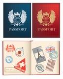 Diseños para un pasaporte general Fotografía de archivo libre de regalías