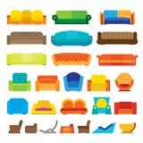 Diseños planos de Couche Imagen de archivo libre de regalías