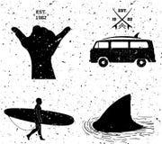 Diseños que practican surf, estilo del grunge Imágenes de archivo libres de regalías
