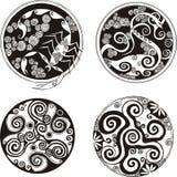 Diseños redondos del espiral Imágenes de archivo libres de regalías
